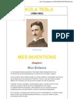 Nikola Tesla- Mes inventions