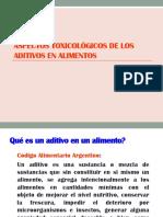 Aspectos toxicologicos de aditivos en alimentos .ppt