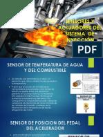 Sensores y Actuadores Del Sistema de Inyección Diésel