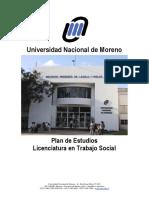 Plan de Estudios Licenciatura en Trabajo Social