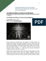 Los Dobles de La Élite y El Control de Las Religiones. 4 Pag.