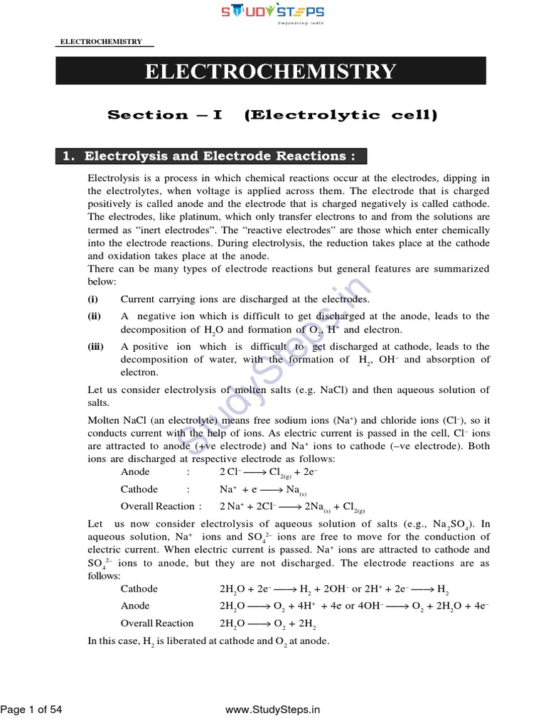 Electrochemistry Notes | Electrochemistry | Redox