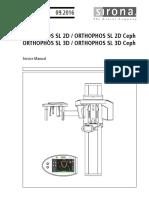 Sirona Orthophos SL Dental X-Ray - Service Manual
