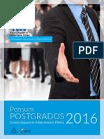 Pensum Postgrado Esap 2016