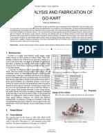 Design Analysis and Fabrication of Go Kart
