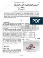 Design Analysis and Fabrication of Go Kart