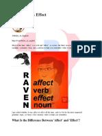 @wikibookia Affect Versus Effect