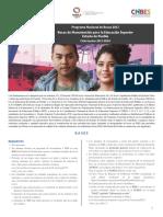 Convocatoria Manutencion Puebla 2017-2018