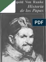 Von Ranke, Historia de los papas en la epoca moderna