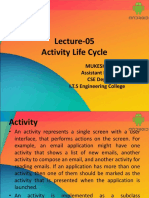Lecture 05 Activity Life Cycle
