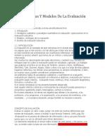 La Paradigmas Y Modelos de La Evaluación