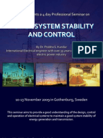 Course on Power System Stability and Control