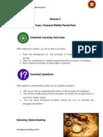 Classical Medieval Period Module