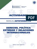 Derecho Politica Exterior y Relaciones Internacionales ACT ED1 V1 2015