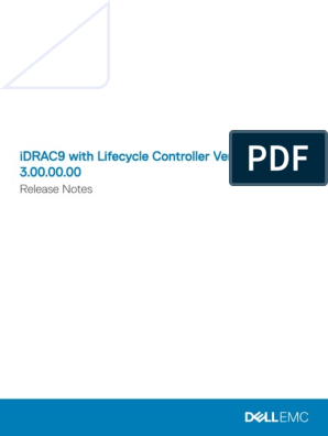 IDRAC9 Lifecycle Controller v3 00 00 00 Release Notes en Us
