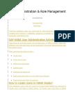 HANA User Administration & Role Management