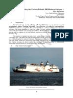 Analysing the Factors Behind KM Mutiara Sentosa 1