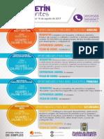 Boletín de vacantes del 08 al 10 de agosto de 2017