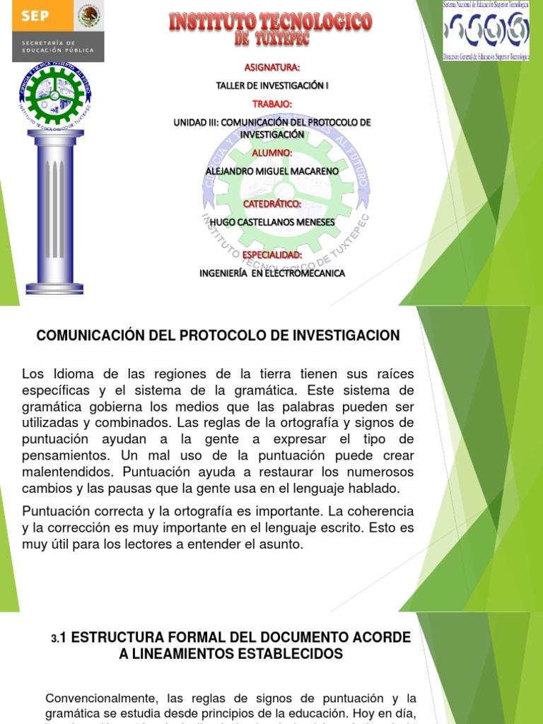 Alejandro Miguel Macareno Comunicacion De Protocolos De