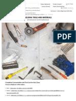 WELDING-01-Welding Tools and Materials