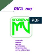 Tarifa Encimeras Mv 2017