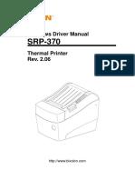 Manual Srp-370 Windows Driver Manual English Rev 2 06