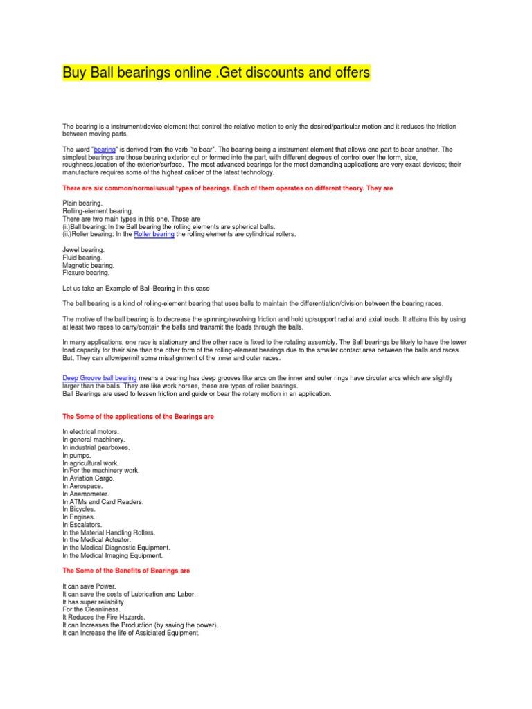 Buy industrial Bearings and Ball Bearings Online  Get