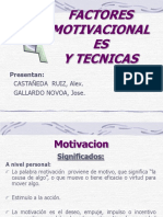 Factores Motivacionales y Tecnicas