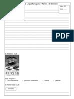 AVALIAÇÃO  A LÍNGUA PORTUGUESA 3°. BIMESTRE - 3°. ANO 2017.docx