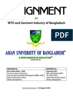 Assignment on WTO and Garment Industry of BD