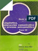 David Liberman - Lingüística, interacción comunicativa y proceso psicoanalítico III.pdf
