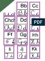 Abecedario imprenta y cursiva