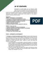 Instrucciones Clarinete