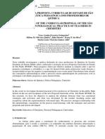 A INFLUÊNCIA DA PROPOSTA CURRICULAR DO ESTADO DE SÃO PAULO NA PRÁTICA PEDAGÓGICA DOS PROFESSORES DE QUÍMICA. 2009 Guimarães Et Al ENPEC