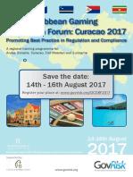 2017 07 19 - Uitnodiging Dutch Caribbean Gaming Regulation Forum 2017