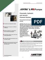 Pneumatic Hydraulic Vacuum Pressure Sources
