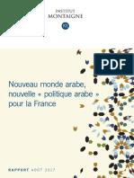Nouveau Monde Arabe - Nouvelle Politique Arabe Pour La France_Auteur Hakim EL KAROUI_Edition Institut Montaigne