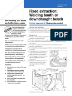 wl3 Fixed extraction Welding booth or downdraught bench