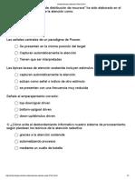 Test Capitulo 0 de Psicologia de la Atención de la Uned 2017.