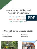 6.r Unbestimmter Artikel Und Negation Im Nominativ
