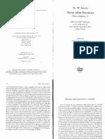 Adorno_Discurso Sobre Lirica y Sociedad_Notas Sobre Literatura