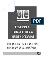 Prevención de Fallas en tuberías aéreas