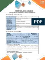 Guía de Actividades Fase 1. Revisar El Marco Normativo de La Contratación Pública.