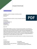 Presentación profesional de IGNACIO GÓMEZ ESCOBAR