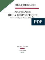 Michel Foucault Naissance de La Biopolitique