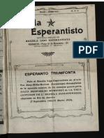 Brazila Esperantisto, Majo-junio 1922