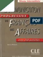 Communication Progressive de Français des Affaires - Intermédiaire