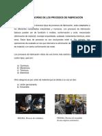 Unidad 1. Introducción a Los Procesos de Fabricación