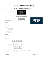 Specialist Maths 2013 Units 3&4 Trial Exam 2 Solutions