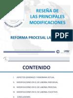 MSc. Marco Durante Sobre Aspectos Fundamentales de La Reforma Procesal Laboral
